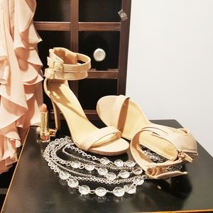 Candies Open Toe Strapy Sexy High Heels Nude 6.5